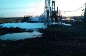Пожар на нефтяной скважине